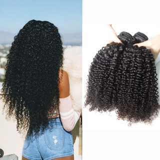 8A afro kinky curl brazilian remy human hair extension