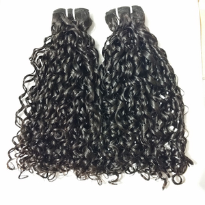 Cuticle Aligned Hair Raw Unprocessed Human Hair Pixie Curl Hair Extension