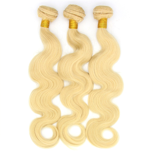 Brazilian Remy Human Hair Body Wave 613 Blonde Hair Weave