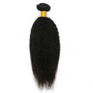 Yaki kinky straight brazilian human hair extension